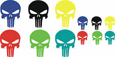 THE PUNISHER SKULL LOGO COMIC CAR LAPTOP STICKER GRAPHIC X 4