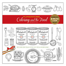 Coloring And the Food Anti-Stress Colouring book from Korea