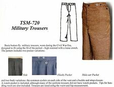 Timeless Stitches CIVIL WAR ERA MILITARY TROUSER Pattern #720