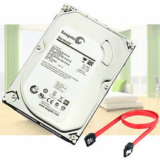 Seagate 1TB Sata 2 3.5 Hard Drive HDD for CCTV Security DVR Camera System+ cable