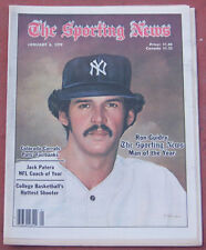 JANUARY 6, 1979 SPORTING NEWS NEW YORK YANKEES RON GUIDRY ON COVER BASEBALL