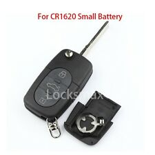 New Flip Folding Key Remote Case Shell Fob For AUDI TT A4 A6 3 Buttons CR1620