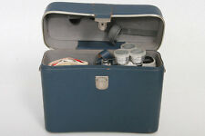 Eumig C3 M Regular 8 Movie Camera - Blue leather panels - vintage display item