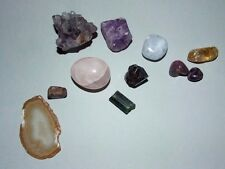 JOB LOT OF CRYSTALS. HEALING MINERALS. AMETHYST / TOURMALINE / RUBELLITE  ETC