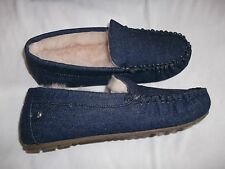 Emu Cairns Denim Slippers Indigo Uk 7 Euro 40 New