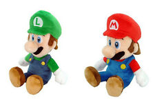 "(Set of 2) Super Mario Bros. Mario + Luigi 8"" Plush Doll by Little Buddy USA"