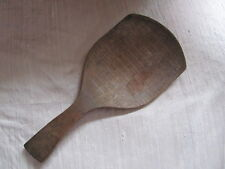 Early 1800's Hand Made Primitive Tiger Maple Wooden Butter Paddle Scoop AAFA