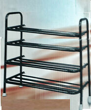 SHOE RACK SHOE ORGANISER SHOE SHELF FOOT WEAR RACK BRANDED METAL 4 TIER FOLDING
