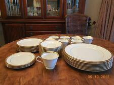 Lenox Bennington Oxford USA bone china white with 24k gold edge dishes