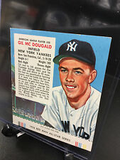 1954 Red Man Tobacco GIL MC DOUGAL #25 AL All Star Team w/Tab