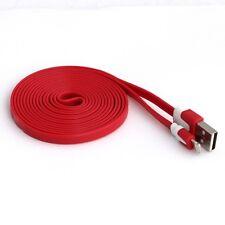 Cavo Caricabatterie lunga 2 metri Rosso iPhone 5 5S 5C 6 6S Plus iPad