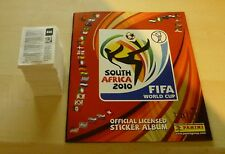 Panini coupe du monde stickers 2010 loose jeu complet de 640 mint + vide album uk