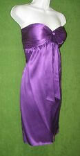 Gianni Bini Purple Violet Silk Pocket Padded Empire Cocktail Social Dress 8 $139