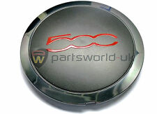 FIAT 500 S SPORT GT lega ruota centro CAP WITH RED Trim 51939747 NUOVO ORIGINALE