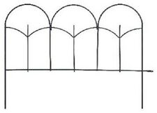 "24 Panacea 89393 14"" x 18""  Black Metal Triple Stalk Garden Edge Border Fencing"
