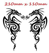 Paire de tatouage tribal dragons Vinyle Brillant Autocollant Voiture AUTO DECAL scooter graphique