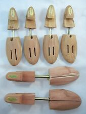 Lot (3) Pairs Taymors and Woodlore Cedar Wood Shoe Tree Wooden Stretcher Shaper