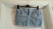 EXCELLENT CONDITION PAPAYA BLUE CORD MINI SKIRT SIZE 12