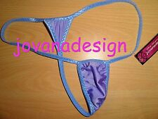 jovanadesign Extreme Small Micro Mens String LILAC/Periwinkle Edging L