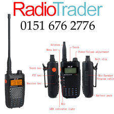 TyT TH-UVF6R VHF y UHF Doble banda amateur escáner Walkie Talkie radio de dos vías