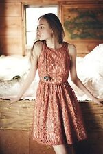 NWT Anthropologie Tracy Reese Blush Mariposa Fancy Lace Frock Size 2