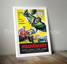 A4 Road Racers vintage film poster car racing poster