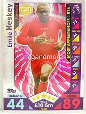Match Attax 2016/17 Premier League -  PL10 Emile Heskey - Player Legends