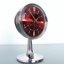 WESTCLOX BIG BEN SCOTLAND Alarm TOP! Clock Mid Century Pedestal! Space Age RETRO