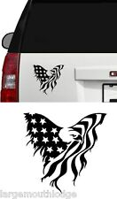 4 INCH AMERICAN EAGLE FLAG STICKER GRAPHIC DECAL TRUCK CAR BOAT JEEP FORD CHEVY