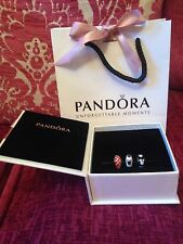 Genuine Disney Pandora Minnie, Mickey Mouse & Minnie Signature Murano Bead Set!