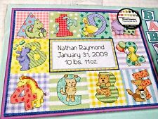 "DIMENSIONS ZOO ALPHABET BIRTH RECORD Counted Cross Stitch Kit 12"" x 9"" 73472"