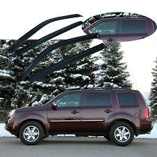 4 x Fit Honda Pilot 2008-2012 Window Deflector Guard Sun Shade Visor Smoke 4Door