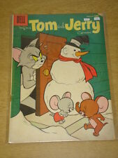 TOM AND JERRY COMICS #151 G+ (2.5) DELL COMICS CHRISTMAS COVER FEBRUARY 1957