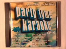 CD Party tyme karaoke - Country legends JOHNNY CASH HANK WILLIAMS PATSY CLINE