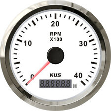 85mm White KUS Tachometer 0-4000rpm for diesel engine CMHB-WS-4KL (SV-KY07102)