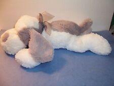 TARGET CIRCO - PUPPY DOG - GRAY / WHITE - SOFT FLOPPY PLUSH - EUC