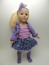 """Madame Alexander 18"""" Doll Blonde Hair and Blue Eyes with Clothes"""