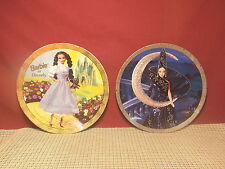 2 Barbie Collector Plates Dorothy & Moon Goddess 8 1/4""