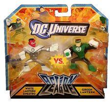 DC Comic Universo Liga De Acción Blanco Sinestro Vs Linterna Verde Figura De Acción