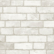 Grey White Brick Look Contact Paper Prepasted Wallcovering Home Decor Wallpaper