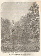 A5978 Butter - I pozzi di gas - Xilografia - Stampa Antica del 1895 - Engraving