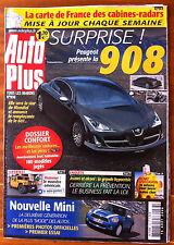 AUTO PLUS du 15/08/2006; Peugeot 908/ Nouvelle Mini/ Dossier Confort/ Alcool