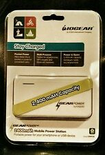 IOGEAR White 2400mAh Capacity Mobile Power Station for Smartphones and USBs