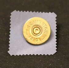 Remington 12 GA Gold Tone Shotgun Shell Bullet Hatpin Pinback