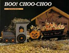 BOO! CHOO-CHOO TRAIN HALLOWEEN PLASTIC CANVAS PATTERN INSTRUCTIONS