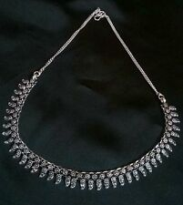 BEAUTIFUL SILVER PLATED OXIDISED NECKLACE FOR GOSSIP GIRLS AND WOMEN,,NEW