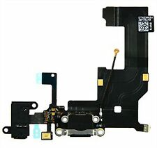 OEM iPHONE 5 CHARGING PORT DOCK CONNECTOR AND AUDIO JACK FLEX CABLE BLACK