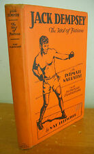 JACK DEMPSEY The Idol of Fistiana by Nat Fleischer, 1929 1st Ed Signed & Illus