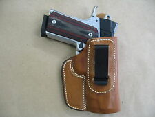 Springfield V10 1911 IWB Leather In Waistband Concealed Carry Holster TAN RH