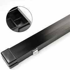 BLACK ALUMINIUM 3/4 Pool Snooker Cue Case - 117cm Max Length